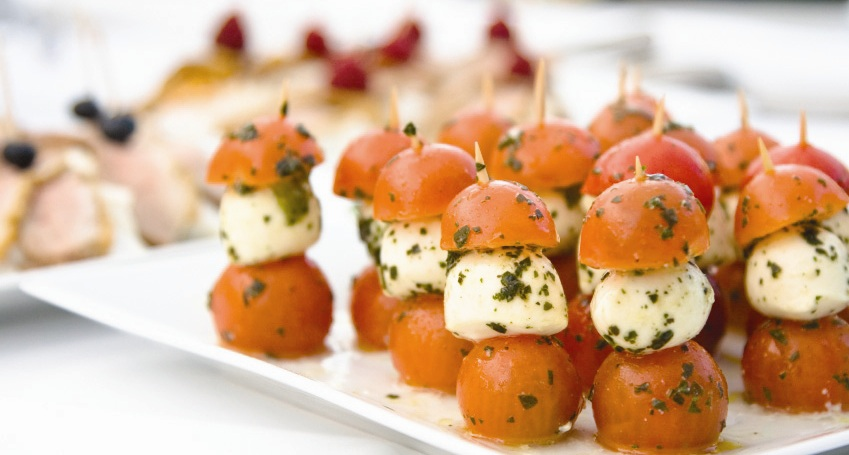 Tasty food is what we do cocktail party ideas hamilton for Mozzarella canape