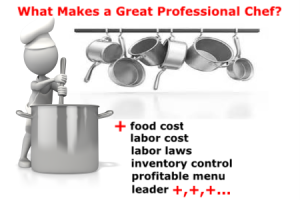 what makes a great professional chef