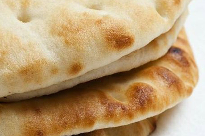 Flat-Bread-Recipe-as round as the pan and as flat as you can