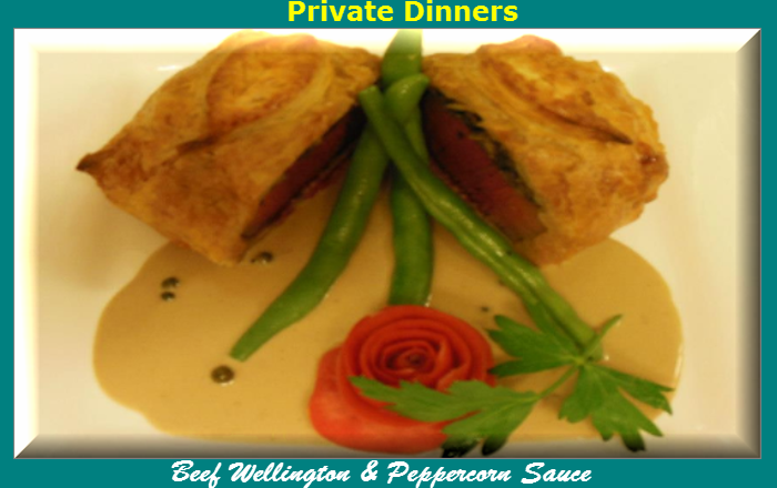 O'Leary's Kitchen Beef Wellington & Peppercorn Sauce