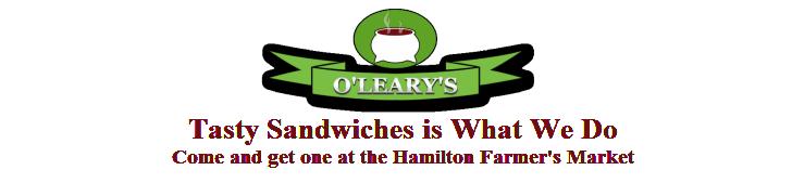 O'Leary's Fresh Hot Flatbread Sandwiches at The Hamilton Farmers Market