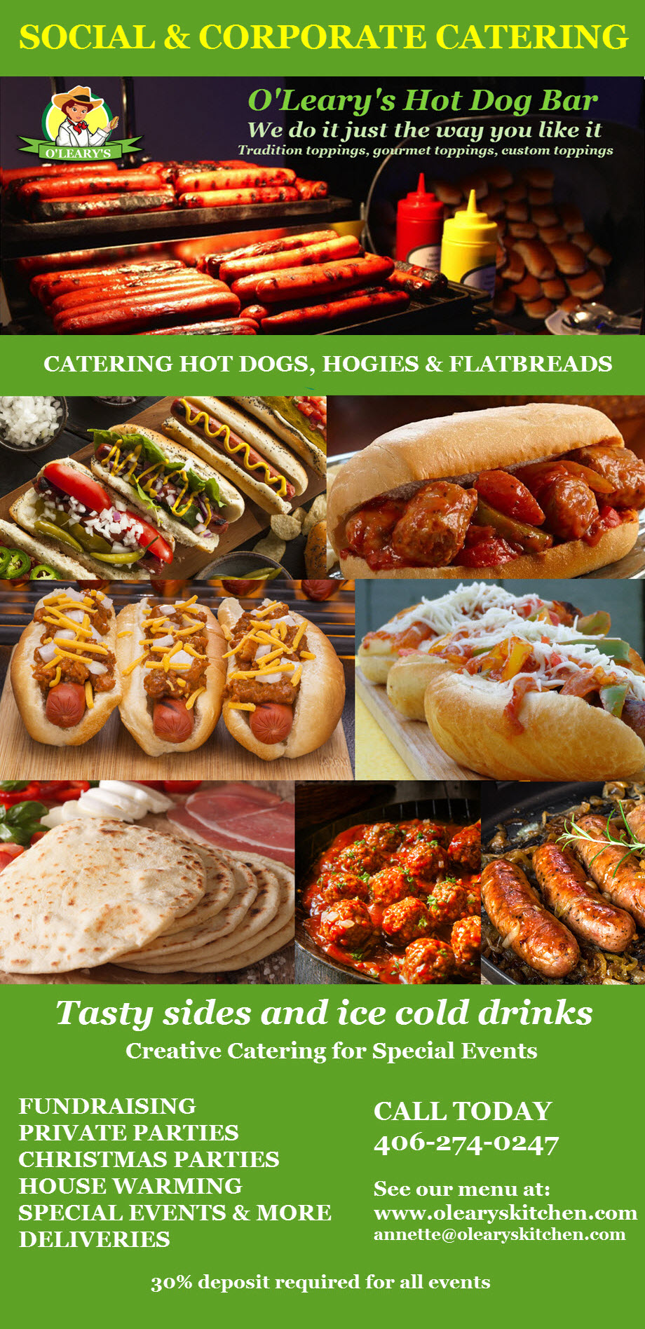 Catering Brochure O'Leary's Hot Dog Bar